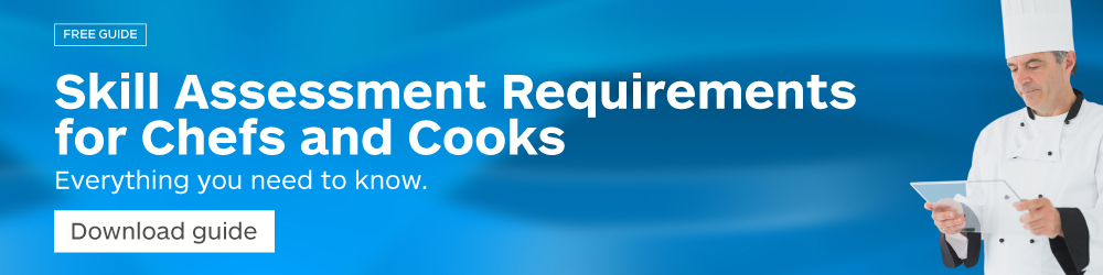 Skills assessment requirements for Cooks and Chefs - Edupi